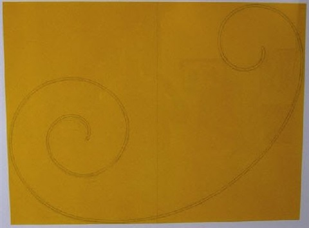 yellow curl by robert mangold