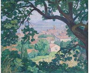vue de saint tropez by blanche augustine camus