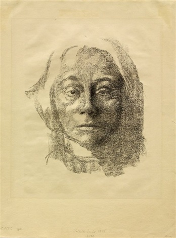 self portrait by käthe kollwitz