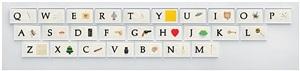 a b c art (low relief): a/ant, etc., (keyboard) by john baldessari
