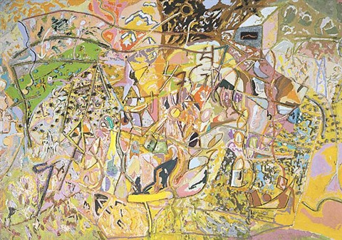 one inch less wild by larry poons