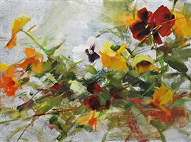 spring pansies by katie swatland (sold)