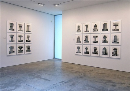 installation view: water towers