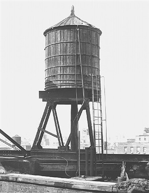 <!--32-->water tower, new york city: broadway / houston st. by bernd and hilla becher