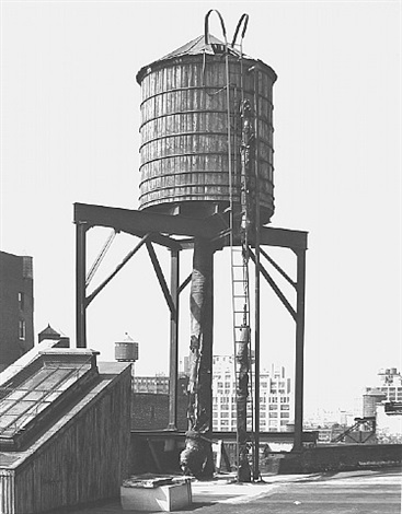 water tower, new york city: broadway / broome st. by bernd and hilla becher