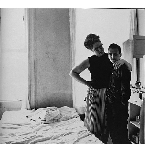 two friends at home by diane arbus