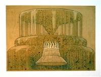 fountain burning vessel viii by robert cumming