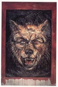 #12 canine - self portrait (lobo) by luis jiménez