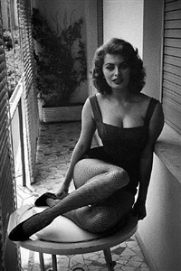 sofia loren. rome, 1955 by david 'chim' seymour