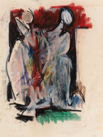 two figures by hans gustav burkhardt