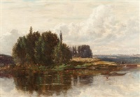 the river's edge, new hampshire by samuel lancaster gerry