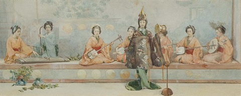 japanese theater by albert herter