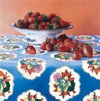 fraises sur toile ciree ii by kira weber