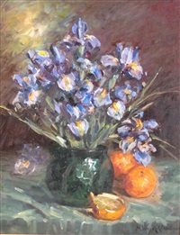 still life with iris by marie weger-kleinbardt