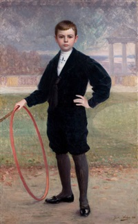 portrait of a young boy by jules charles aviat