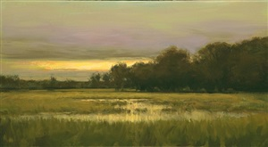 evening on the salt marsh by dennis sheehan (sold)