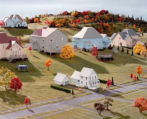 landscape with houses (dutchess county, ny) #3 by james casebere