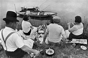 on the bank of the marne, france by henri cartier-bresson