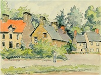 country houses by paul emile pissarro