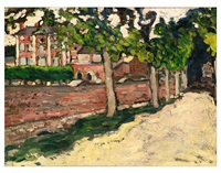 le boulevard au mur rose by louis valtat