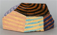 untitled (striped lozenge) by jun kaneko