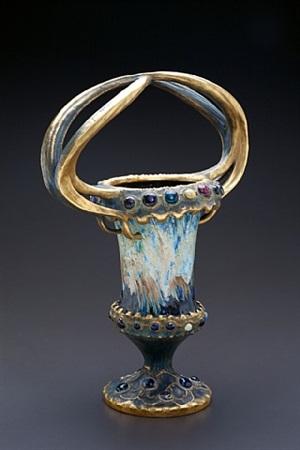 gilded chalice by amphora werke reissner