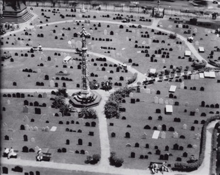 cemetery aerial view by berenice abbott