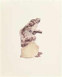 femme du midi (pink, tan/grey, mauve/tan) (set of 3) by ivor abrahams