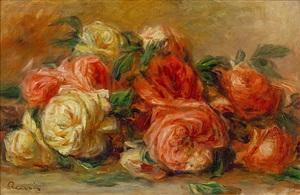 jete de roses by pierre-auguste renoir