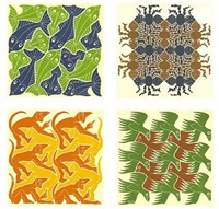 strens suite of four by m. c. escher