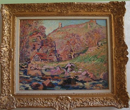 le moulin brigand et les ruines de crozani by guillaumin