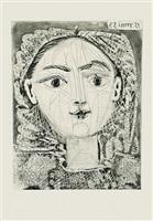 portrait de françoise a la resille by pablo picasso