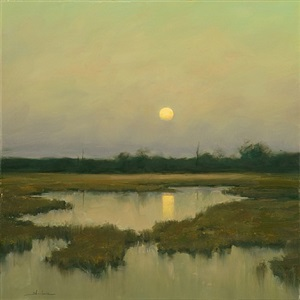 moon rising by dennis sheehan (sold)