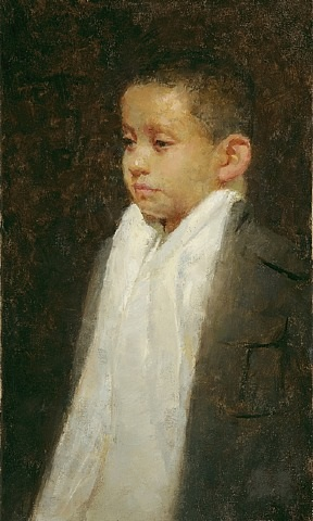 portrait of the artist's nephew (sold) by juan jr ramirez