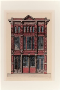 trueheart, adriance building; texas architecture; the adolphus hotel (set of 3) by richard haas