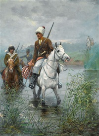 cossacks on horseback by dmitri petrovich ventsenostsev
