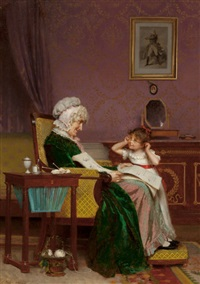 the first lesson by louis emile adan