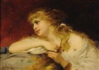 portrait of a woman by joseph coomans
