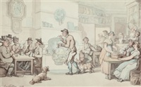 in the tavern (the interior of an inn) by thomas rowlandson
