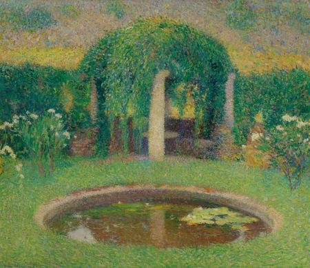 petit bassin près de la tonnelle sud de marquayrol jardin de lartiste by henri etienne martin
