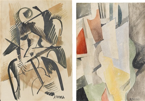cubist study another irgr pair by liubov popova