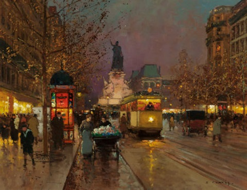 place de la république paris by edouard léon cortès