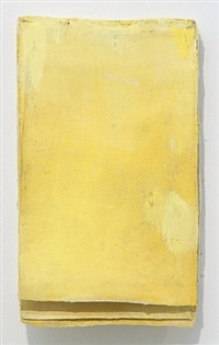 ohne titel (calendar yellow #1) / untitled (calendar yellow #1) by lawrence carroll