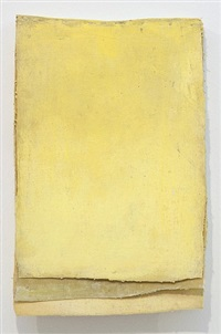 ohne titel (calendar yellow #2) / untitled (calendar yellow #2) by lawrence carroll