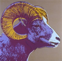 bighorn ram, from endangered species by andy warhol