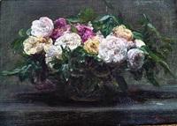 roses épanouies by henri fantin-latour