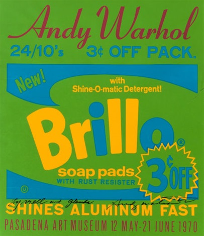 brillo soap pads pasadena art museum exhibition poster 1970 by andy warhol
