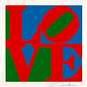 pop art accrochage at fluegel-roncak gallery by robert indiana