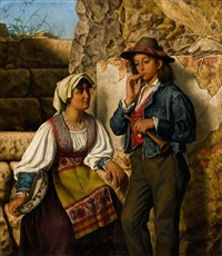 a young italian couple by eman. r. ginzel