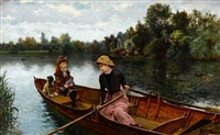an idle afternoon by william henry bartlett